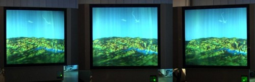 3D terrain visualized by Holographic 3D display